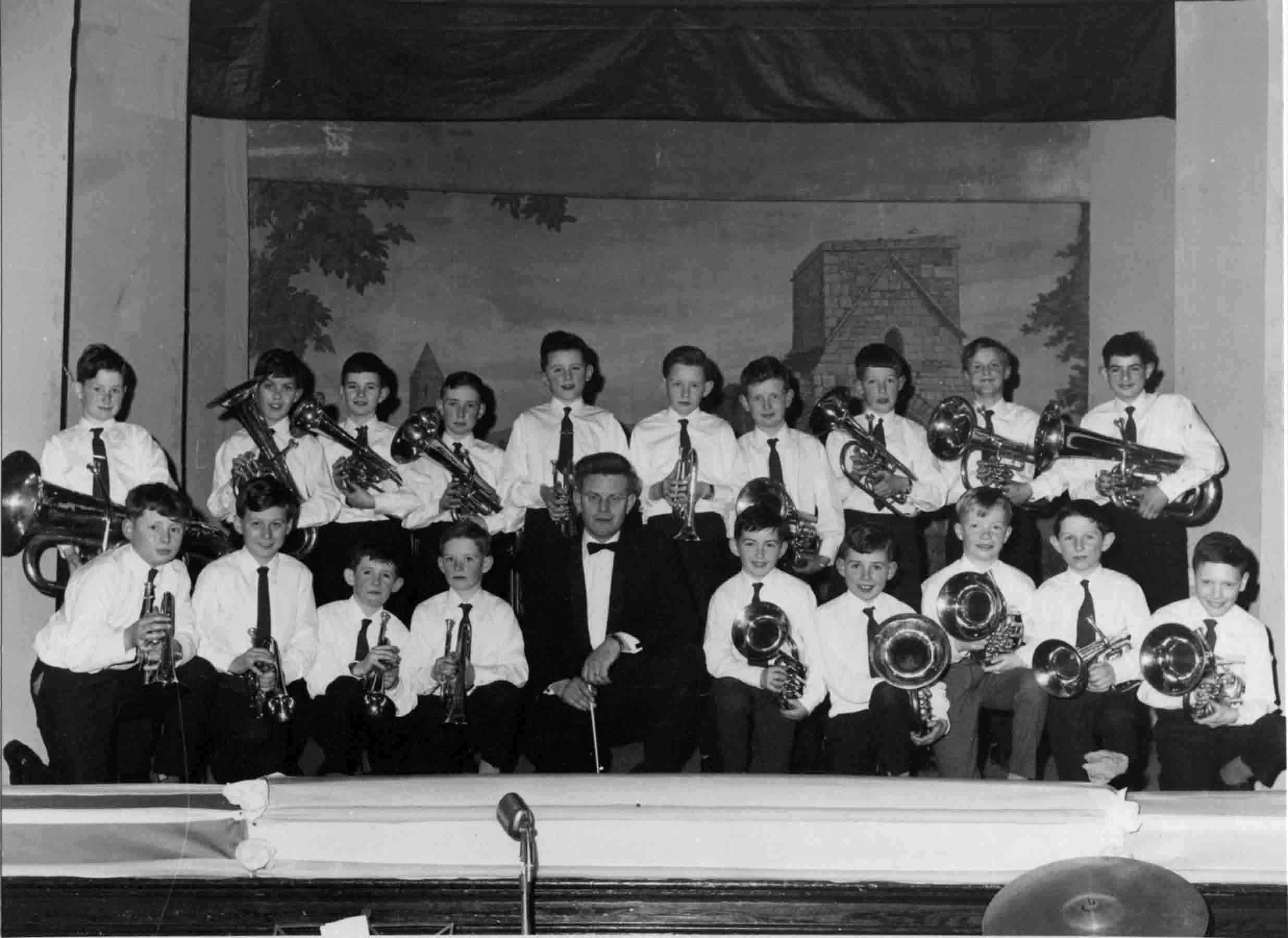 The debut performance of the Carndonagh Boys' Brass Band, the Colgan Hall, St. Patrick's Night Concert, 1967