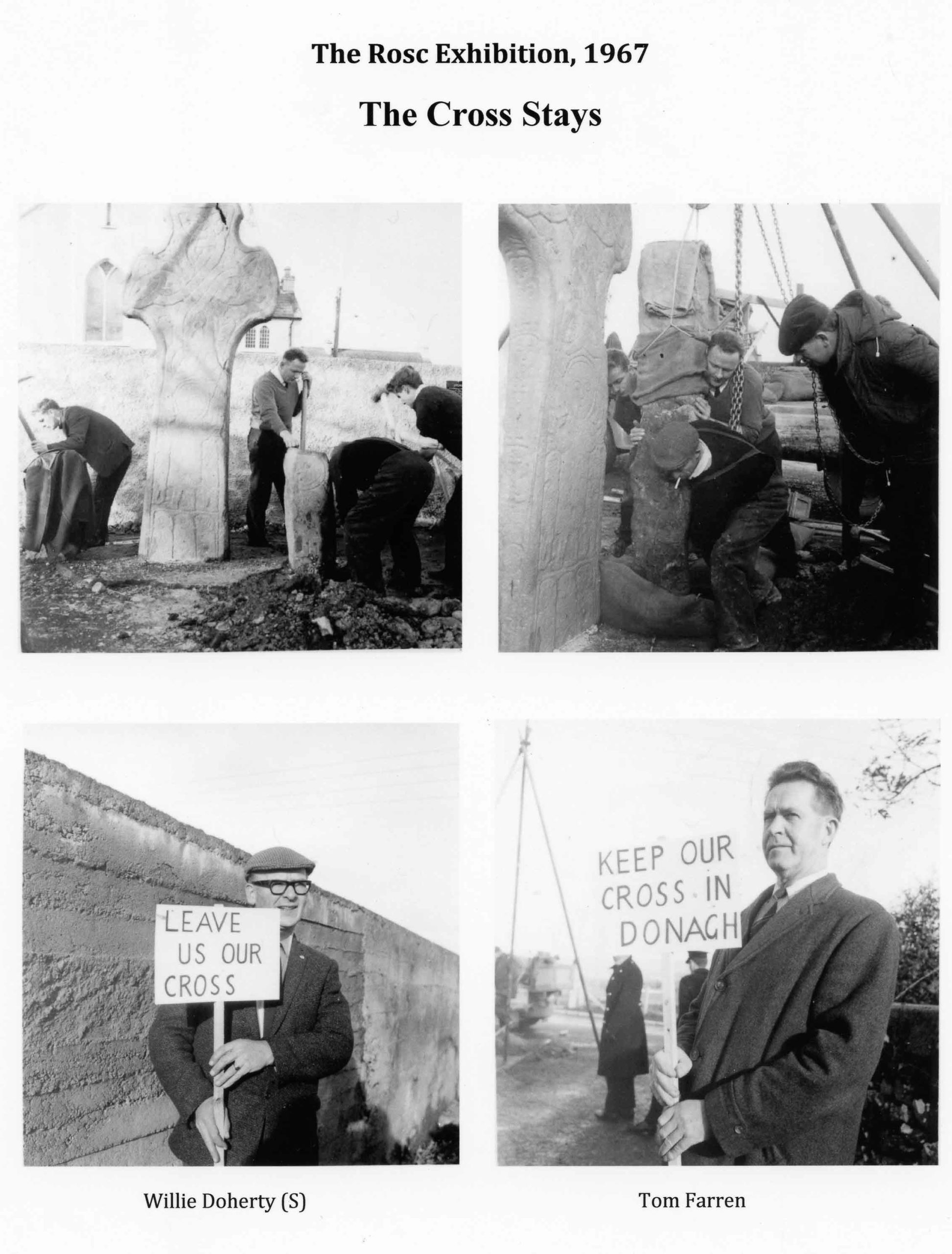photos of protestors at the Donagh Cross site in 1967