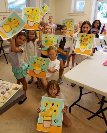 beginning-painting-sunflowers