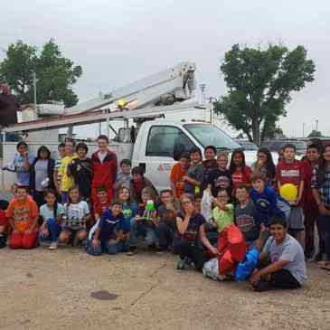 Bucket trucks are good for learning, too!