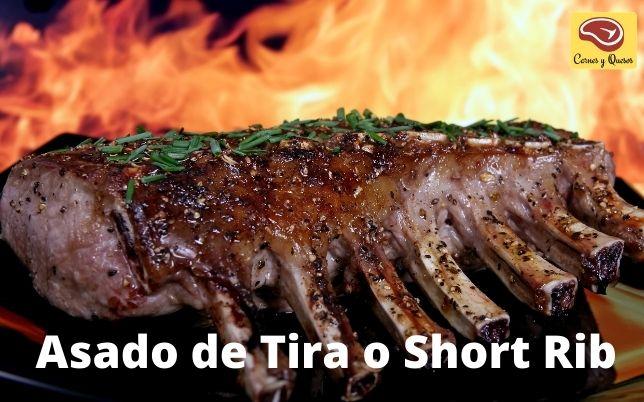 short rib costillas carnes asado y parrilla