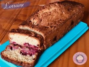 Cake noix de coco-framboises