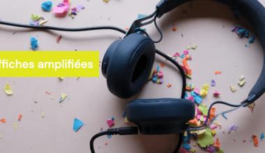 image décorative d'écouteurs avec confettis