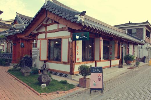 Café dans le village de Hanok à Jeonju