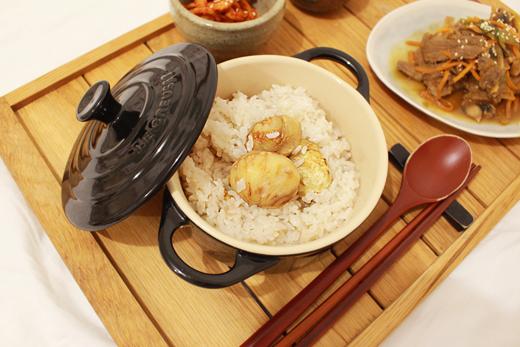 Cuisine coréenne: riz aux marrons