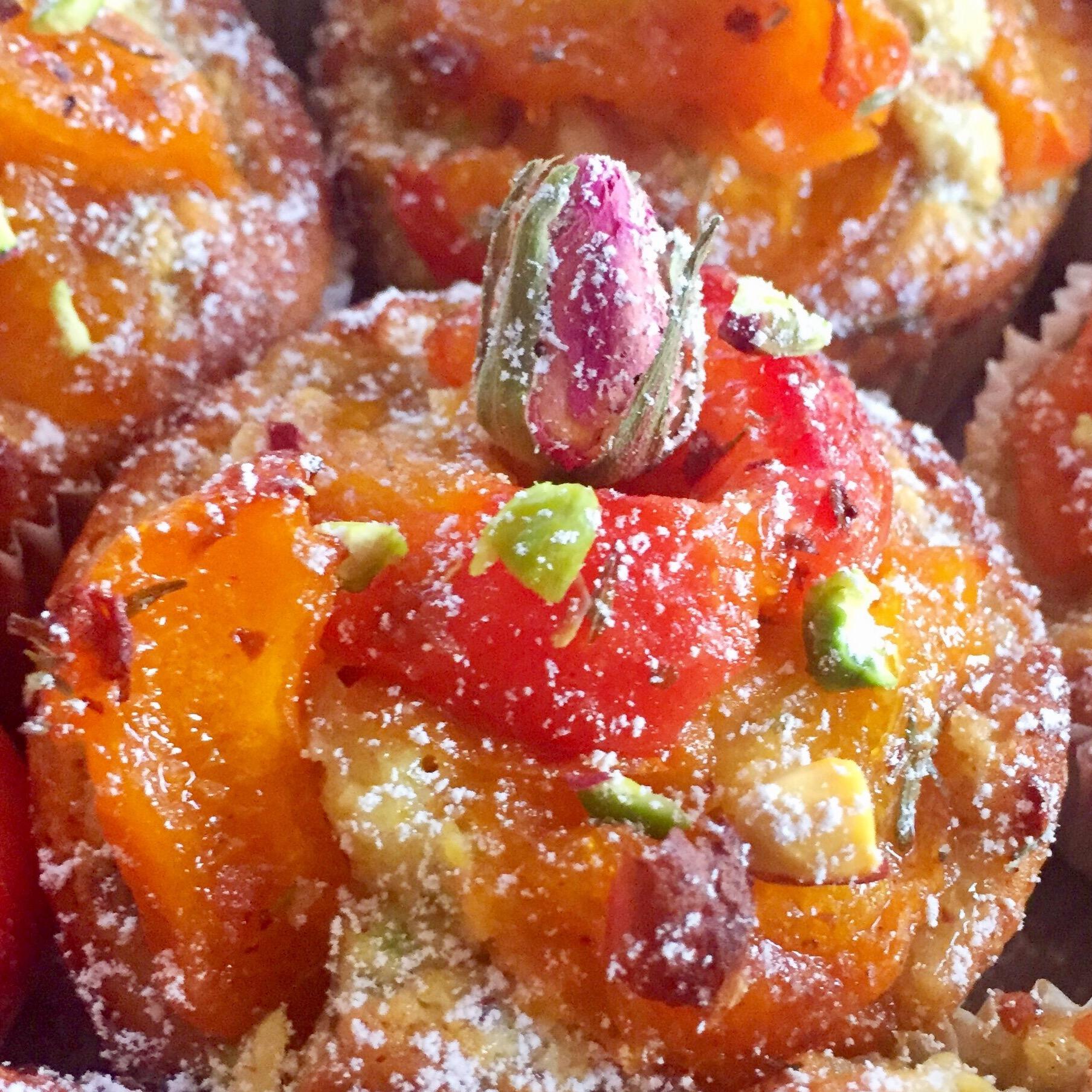 Muffins aux Abricots Pistaches à l'Orientale