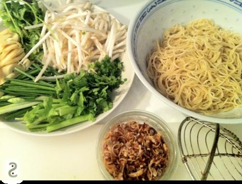 herbes (coriandre et ciboule)