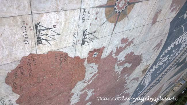 Monumento dos Descobrimentos - Belem- rose des vents