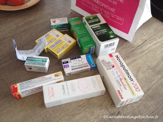 médicaments voyage