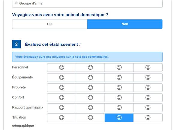 questionnaire de satisfaction booking.com