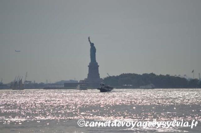 vue sur la statue de la Liberté