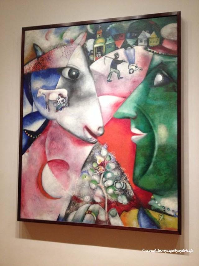 Tableau de CHAGALL 1911 : Moi et le village (MoMA)