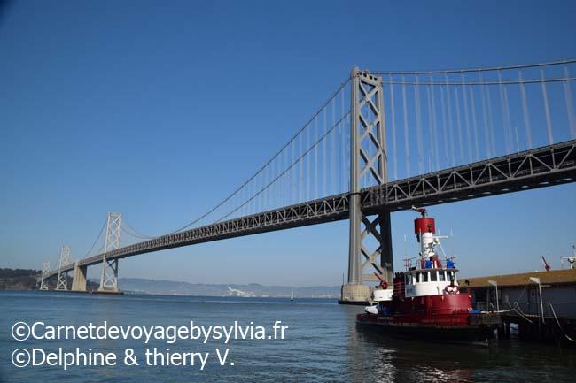 Le pont de San Francisco- ouest americain