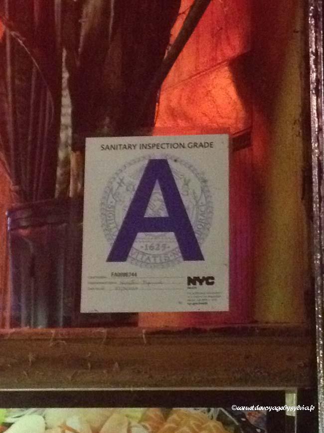 restaurant noté A à New York