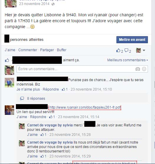 ryanair facebook-fan
