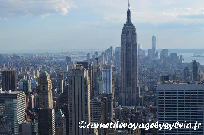 Visiter Top of the Rock - vue sur ESB - New York City