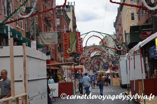 Little Italy- New York-préparation san gennaro