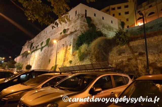 Cagliari – SARDAIGNE-Castello- ville haute-promenade nocturne