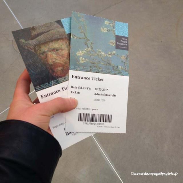 Billet Musée Van Gogh