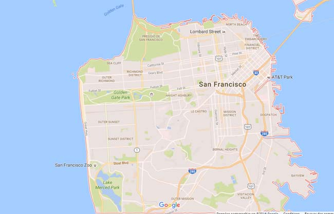 San Francisco par quartier