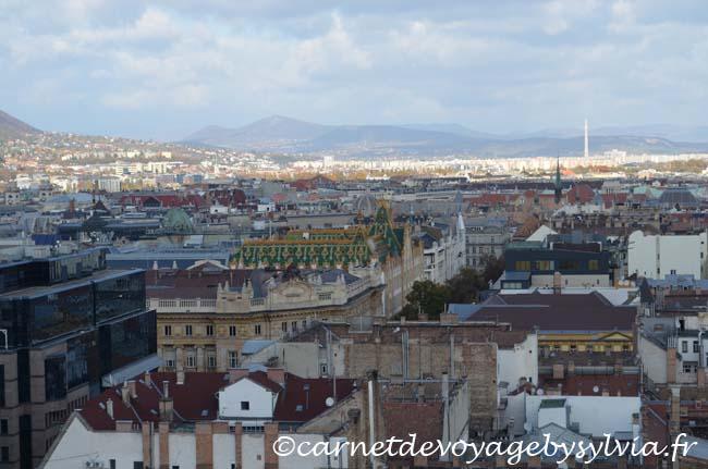 Vue sur Budapest - Basilique St Etienne - vue depuis le toit
