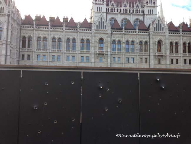 autour Parlement de Budapest
