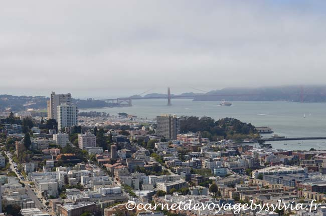 San Francisco vue depuis la Coït Tower