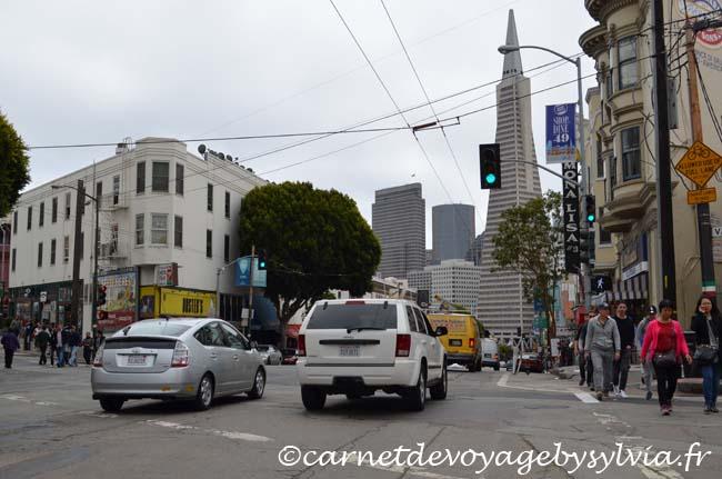 Quartier Italien - vue sur les alentours - san Francisco