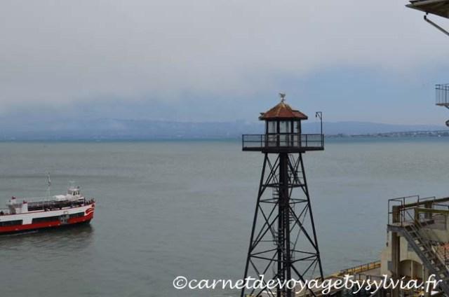 Arrivée sur l'île d'Alcatraz