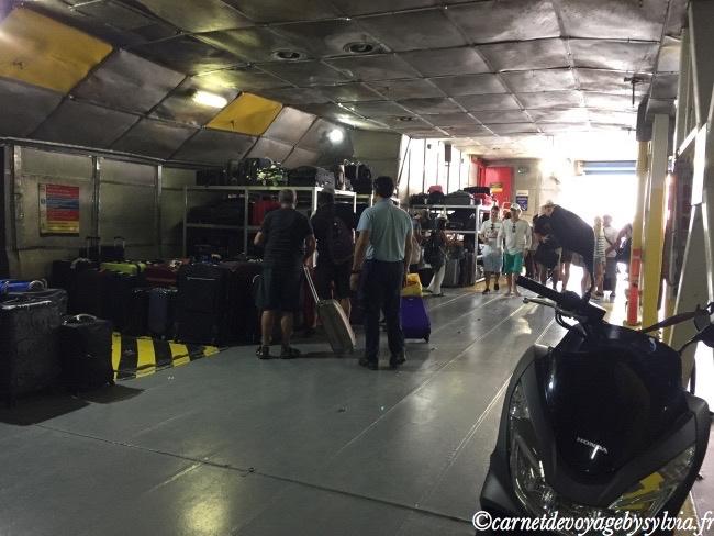 bagages sur le Ferry