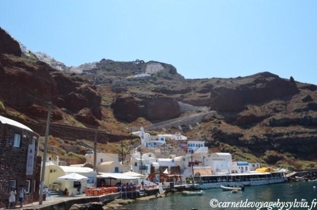 vue depuis le port d'Amoudi