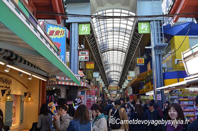 marché couvert près du temple