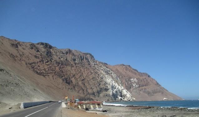 bord de mer le long de la côte de Arica
