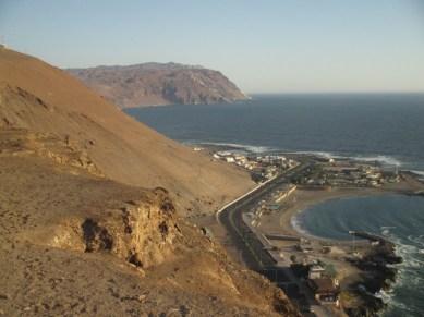 Vue du morro Arica