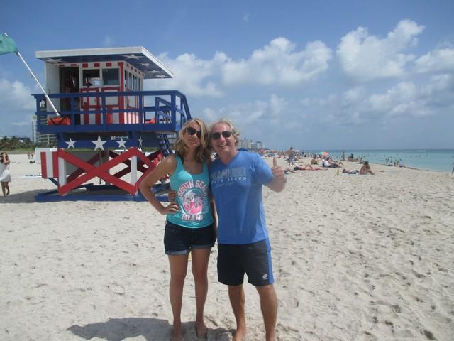 La classe avec leurs T-shirts spécial Miami!