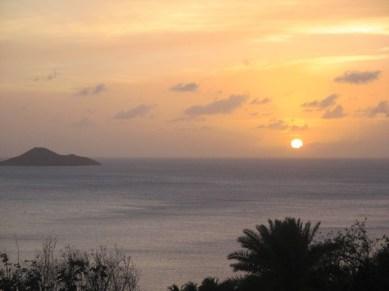 coucher de soleil sur Nail Bay