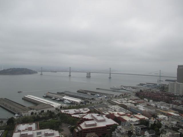 Bay bridge depuis la Coit TowerSan Francisco