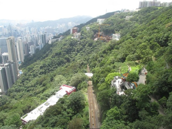 la voie du peak tram Hong Kong