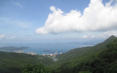 vue sur l'autre coté du victoria peak