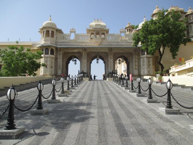 entrée du city Palace udaipur