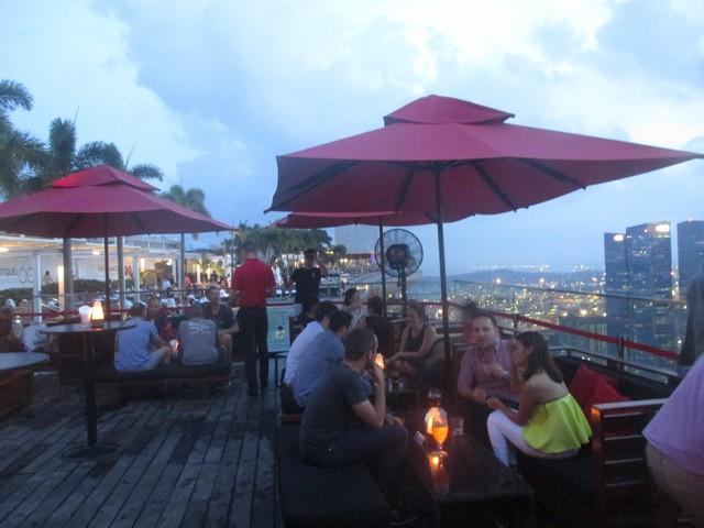 Rooftop Bar du Marina Bay Sand Singapour