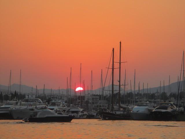 coucher de soleil port de Bodrum