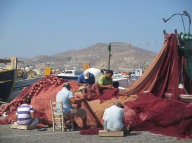 pêcheurs Naoussa Paros