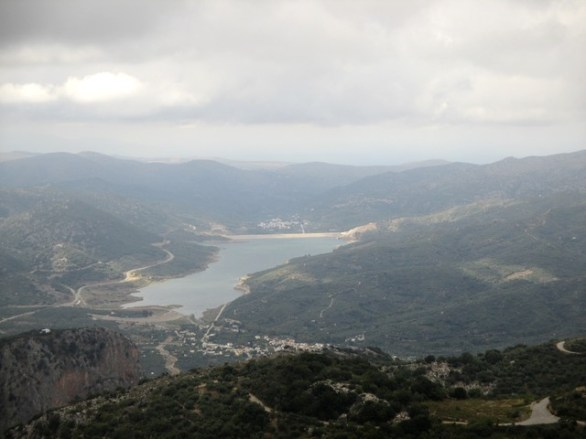 lac artificiel région Lassithi