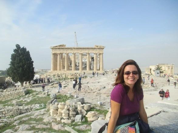 Nath devant le Parthénon Athènes