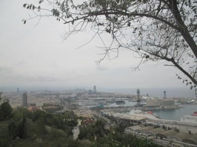 Vue Barcelone depuis Parc Montjuic