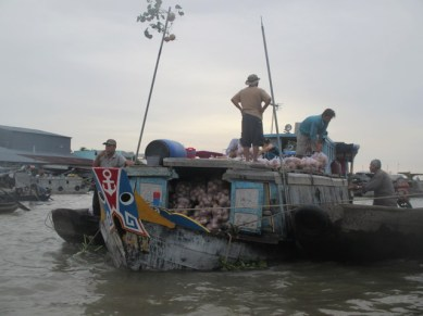 Marché flottant Cai Rang sur le Mékong