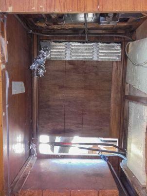 Photo structure frigo camping-car