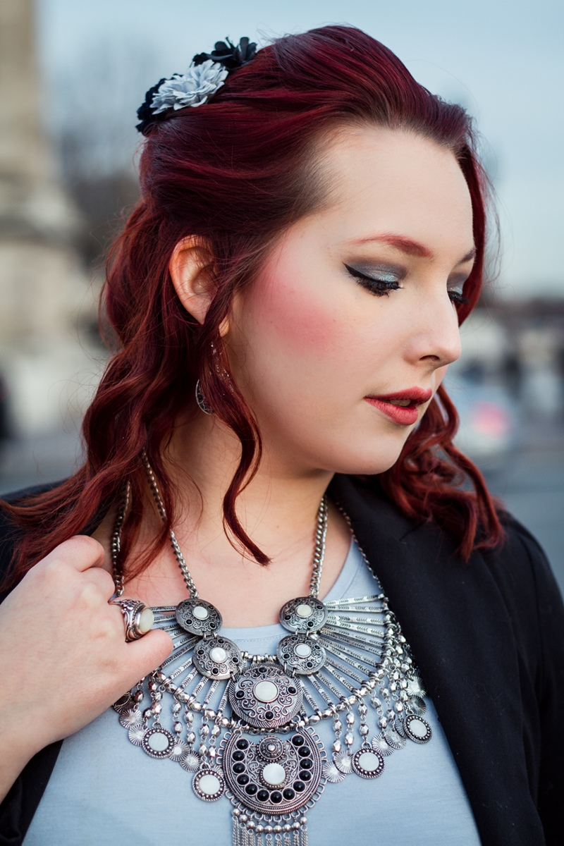 French Curves Statement Necklace