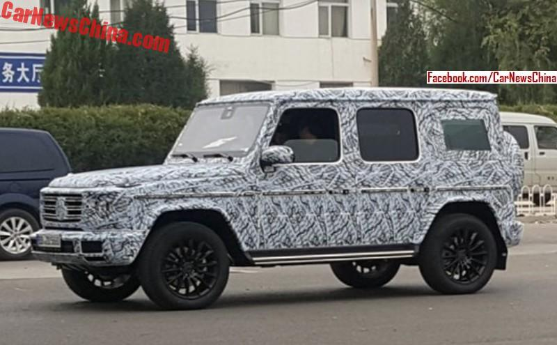mercedes benz g wagon 2018. brilliant benz spy shots showing the new 2018 mercedesbenz gclass suv testing in china  the will debut early next year china is one of largest markets  intended mercedes benz g wagon
